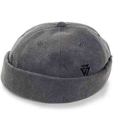 Ninth Hall Melton Charcoal Wool Brimless Hat