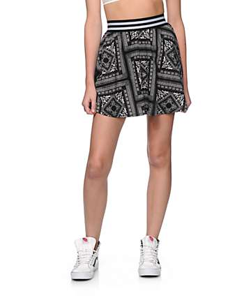 Ninth Hall Missy Bandana Skater Skirt