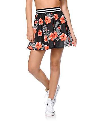 Ninth Hall Missy Floral Bandana Skater Skirt