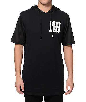 Ninth Hall Modulation Terry & Mesh Hooded T-Shirt
