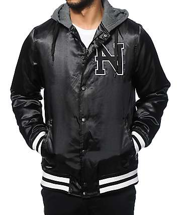 Ninth Hall Overcast Satin Baseball Jacket