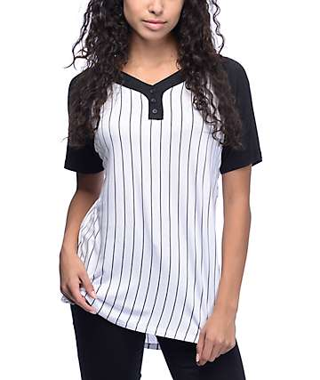 Ninth Hall Pedro Black Baseball T-Shirt