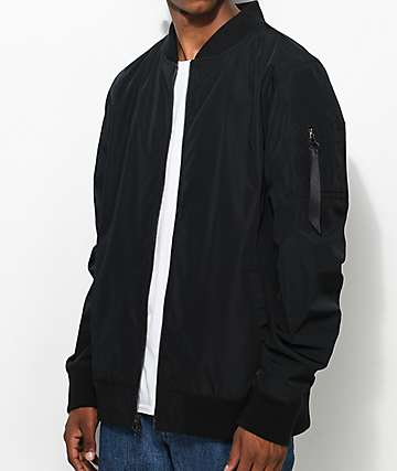 Ninth Hall Privation chaqueta bomber en negro