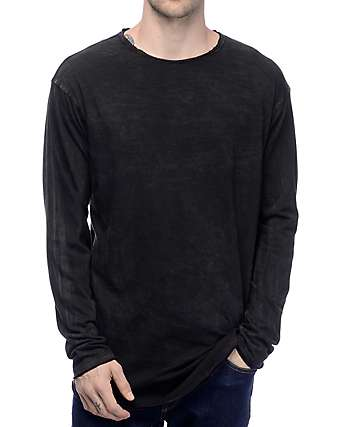 Ninth Hall Radio Mineral Black Wash Long Sleeve T-Shirt