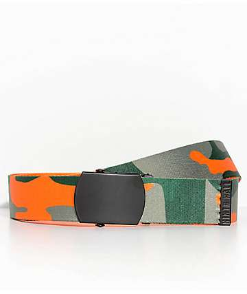Ninth Hall Reverse Orange Camo Belt