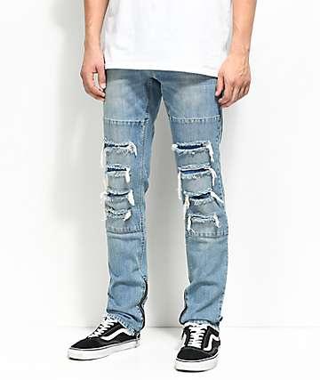 Ninth Hall Rogue Sparrow pantalones en azul claro