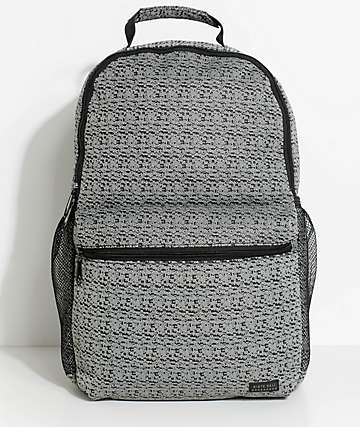 Ninth Hall Rune Slub Knit Grey & Black Backpack