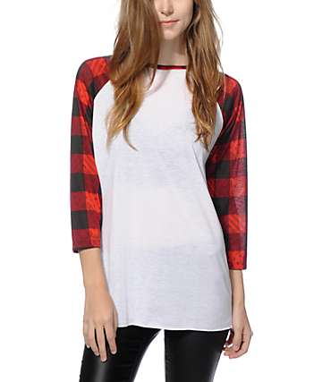Ninth Hall Sawyer Plaid Bandana Baseball Tee