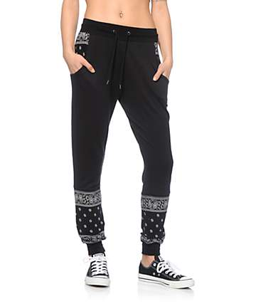 Ninth Hall Serena Bandana Panel Jogger Pants