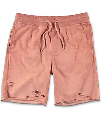 Ninth Hall Shredder Cameo Brown Destroyed Walkshorts