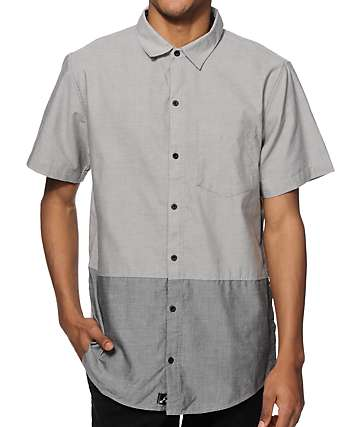 Ninth Hall Splice 2 Tone Button Up Shirt