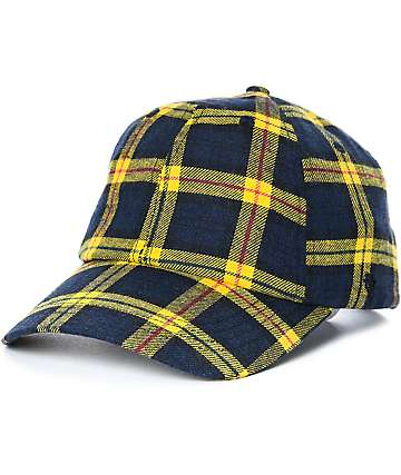 Ninth Hall Standard Yellow Plaid Strapback Hat