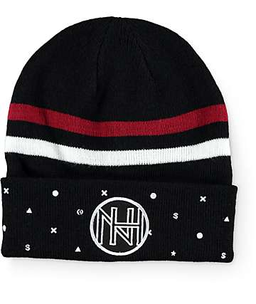 Ninth Hall Stripe Black Beanie