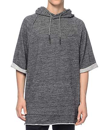 Ninth Hall Submit Black Speckled Short Sleeve Hoodie