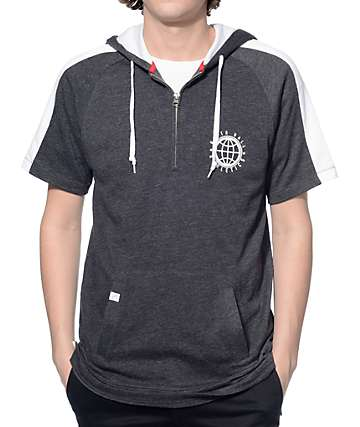 Ninth Hall Training Day Charcoal and White Short Sleeve Hoodie