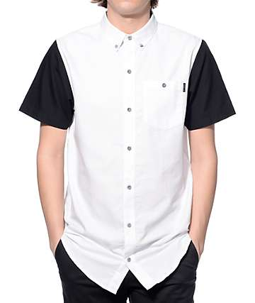 Ninth Hall Triller White and Black Button Up Shirt