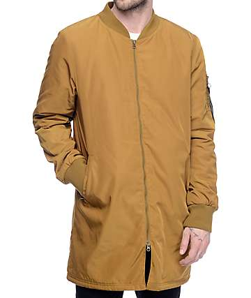 Ninth Hall Vandal Tobacco Long Bomber Jacket