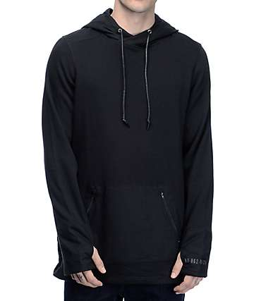 Ninth Hall Viral Black Nylon Hoodie