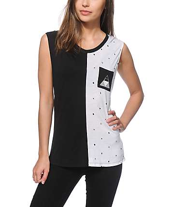 Ninth Hall Warren Dot Print Muscle Tank Top