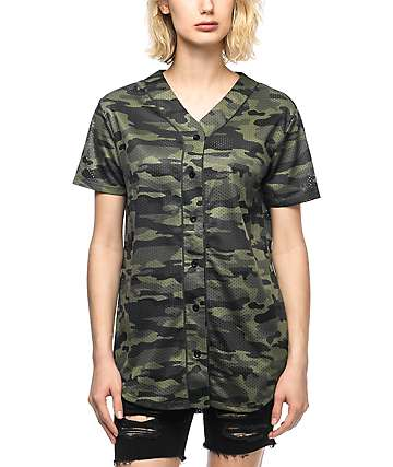 Ninth Hall Zoey Camo Baseball Jersey