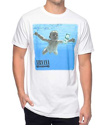 Nirvana Nevermind White T-Shirt