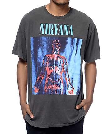 Nirvana Sliver Washed camiseta negra