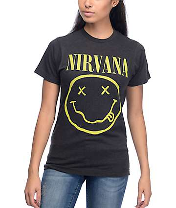 Nirvana Smile Charcoal T-Shirt