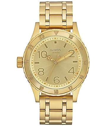 Nixon 38-20 All Gold Analog Watch