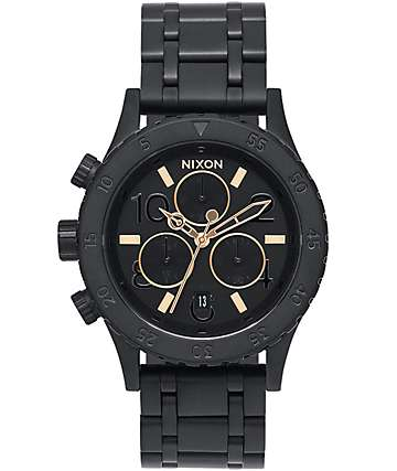 Nixon 38-20 Chrono All Black & Rose Watch