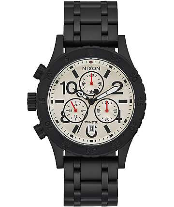 Nixon 38-20 Chrono Black & Forest Watch