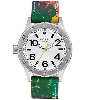 Nixon 38-20 Leather Palmade Analog Watch