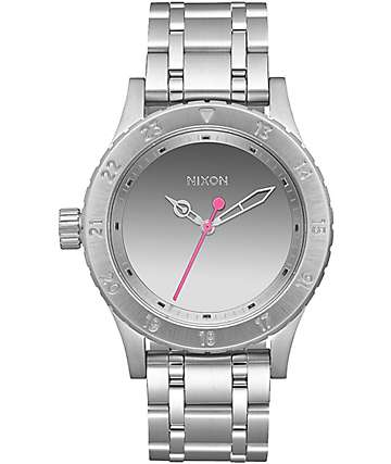Nixon 38-20 Silver & Mirror Analog Watch
