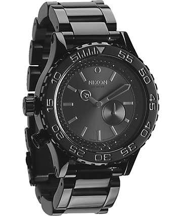 Nixon 42-20 Tide Black & Crystal Watch