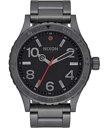 Nixon 46 All Gunmetal Analog Watch