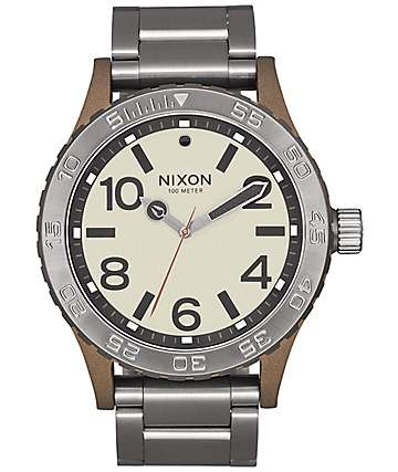 Nixon 46 Bronze & Gunmetal Watch