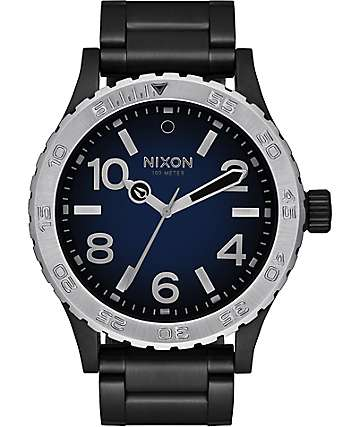 Nixon 46 Ombre Black & Blue Watch