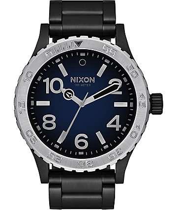 Nixon 46 Ombre reloj en negro y azul