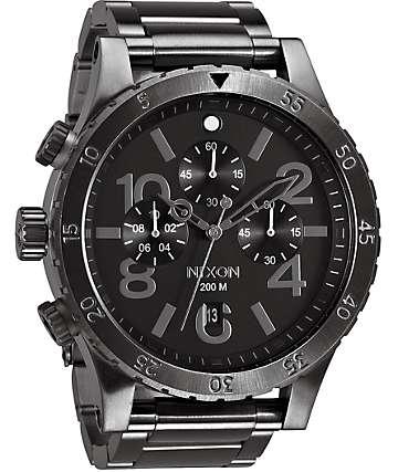 Nixon 48-20 Gunmetal Chronograph Watch