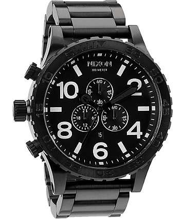 Nixon 51-30 All Black Chronograph Watch