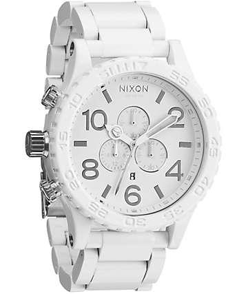 Nixon 51-30 All White & Silver Chronograph Watch
