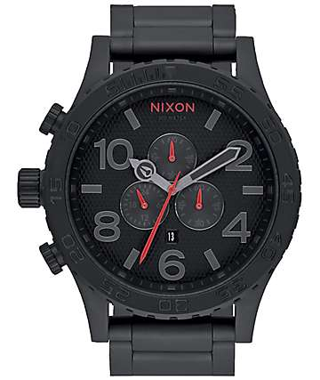 Nixon 51-30 Chrono All Black & Stamped Analog Watch