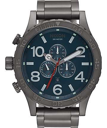 Nixon 51-30 Chrono All Gunmetal & Dark Blue Watch