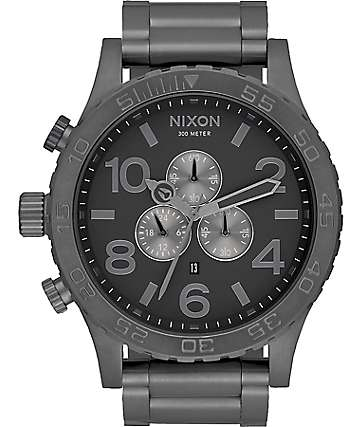 Nixon 51-30 Chrono All Gunmetal Analog Watch