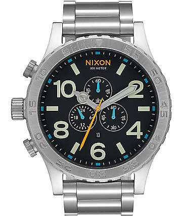 Nixon 51-30 Chrono Black & Multi Watch
