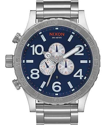 Nixon 51-30 Chrono Blue Sunray Watch