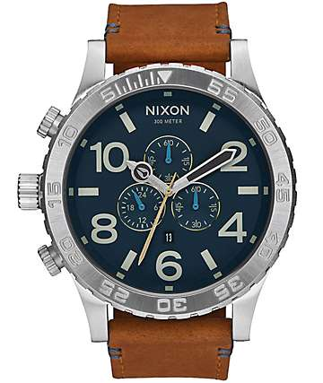 Nixon 51-30 Chrono Leather Analog Watch
