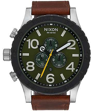 Nixon 51-30 Chrono Leather Surplus & Brown Watch