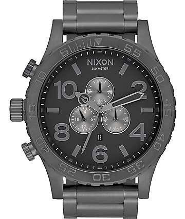 Nixon 51-30 Chrono reloj analógico en color gunmetal