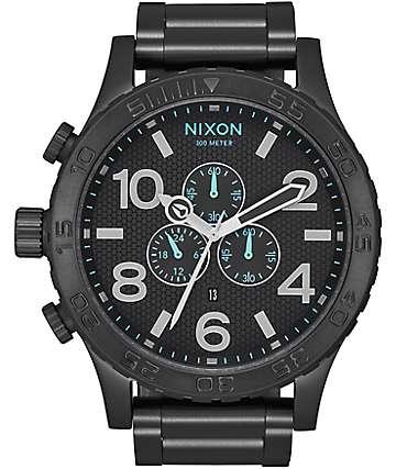 Nixon 51-30 Chrono reloj analógico en negro y azul