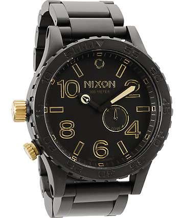 Nixon 51-30 Matte Black & Gold Analog Watch